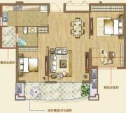 融侨华府2室2厅1卫0平方米户型图