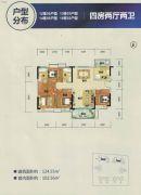 卧龙五洲世纪城124平方米户型图