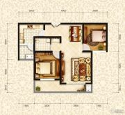 和昌・国际城2室1厅1卫90平方米户型图