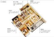五经・山水大观3室2厅2卫115平方米户型图