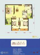 怡景江南2室2厅1卫88--90平方米户型图