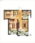 大正翡翠花园2室2厅1卫80平方米户型图