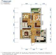 万科金域东岸2室2厅1卫76平方米户型图
