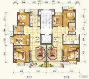 万达西双版纳国际度假区3室2厅1卫84--86平方米户型图