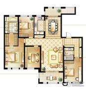 华润橡树湾4室2厅2卫187平方米户型图