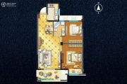 宇业天逸华庭2室2厅1卫82平方米户型图