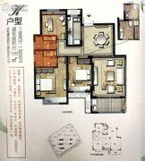 正大万物城3室2厅2卫120平方米户型图