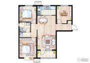 万科桃花源3室2厅2卫0平方米户型图