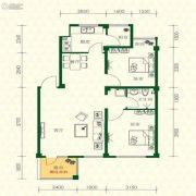 丽江苑2室2厅1卫84平方米户型图