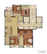 融创常州御园4室2厅2卫184平方米户型图