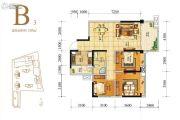人居天府汇城3室2厅1卫107平方米户型图