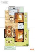 南海幸福汇2室2厅1卫75平方米户型图