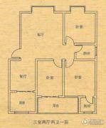 庆华世纪春城3室2厅2卫0平方米户型图