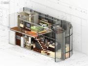 润城1室1厅1卫0平方米户型图