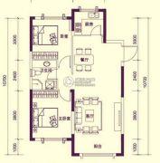 保利罗兰香谷2室2厅1卫90平方米户型图