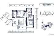 裕邦・新外滩3室2厅2卫0平方米户型图