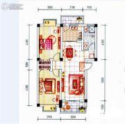 晋海御园二期2室2厅2卫79平方米户型图