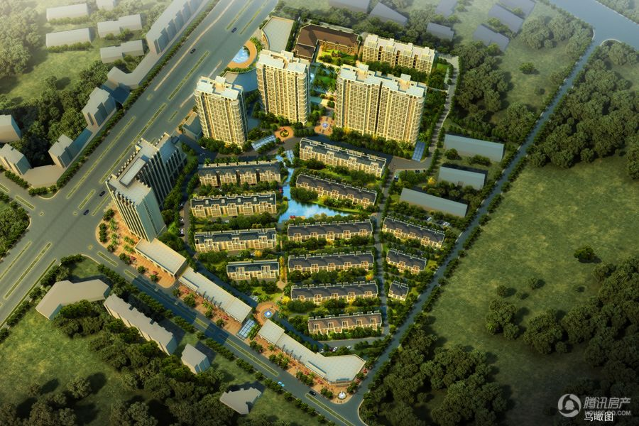 太阳城项目鸟瞰图