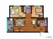 华普城2室2厅1卫77平方米户型图