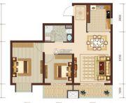 燕赵锦河湾2室2厅1卫85平方米户型图