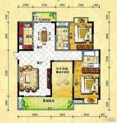 中央新城2室2厅2卫134--135平方米户型图