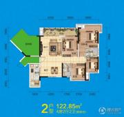 盛天悦景台4室2厅2卫0平方米户型图