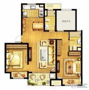 万科MixTown3室2厅1卫105平方米户型图