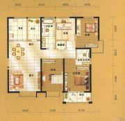 伟业・中央公园4室2厅2卫168平方米户型图