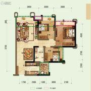 鼎晟泓府・天誉3室2厅1卫92平方米户型图