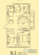 东方今典3室2厅1卫111平方米户型图