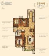 金地悦峰3室2厅22卫128平方米户型图