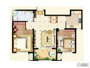 阳光首院2室2厅1卫88平方米户型图