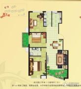 河畔花城3室2厅2卫105--111平方米户型图