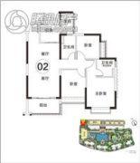 恒大・山湖郡3室2厅2卫108平方米户型图