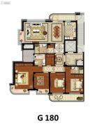 方远天韵水岸4室2厅2卫180平方米户型图