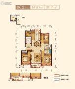 上实海上海4室2厅2卫115平方米户型图