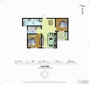 朗诗绿色街区2室2厅2卫88平方米户型图
