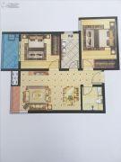 启迪国际城・逸居2室2厅1卫76平方米户型图