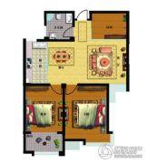 天和豪庭2室2厅1卫101平方米户型图