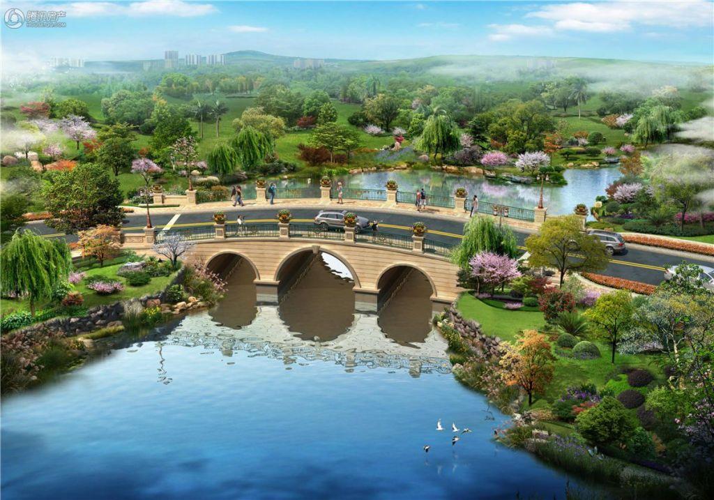 富春山居景观桥