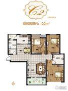 亚星锦绣山河3室2厅2卫122平方米户型图