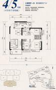 恒大照母山3室2厅1卫71平方米户型图