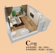 四季柏悦1室0厅1卫28--47平方米户型图