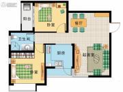 阳光100国际新城2室2厅1卫81平方米户型图