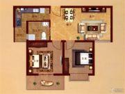 凤凰城2室2厅1卫79平方米户型图