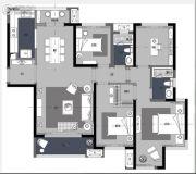 卓越浅水湾4室2厅2卫142平方米户型图
