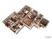 仁恒绿洲新岛4室2厅2卫138平方米户型图