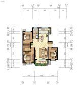 嘉亿国际3室2厅1卫121--125平方米户型图