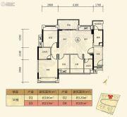 北大资源博雅滨江4室2厅2卫101平方米户型图