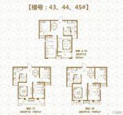 棠悦2室2厅1卫80--91平方米户型图